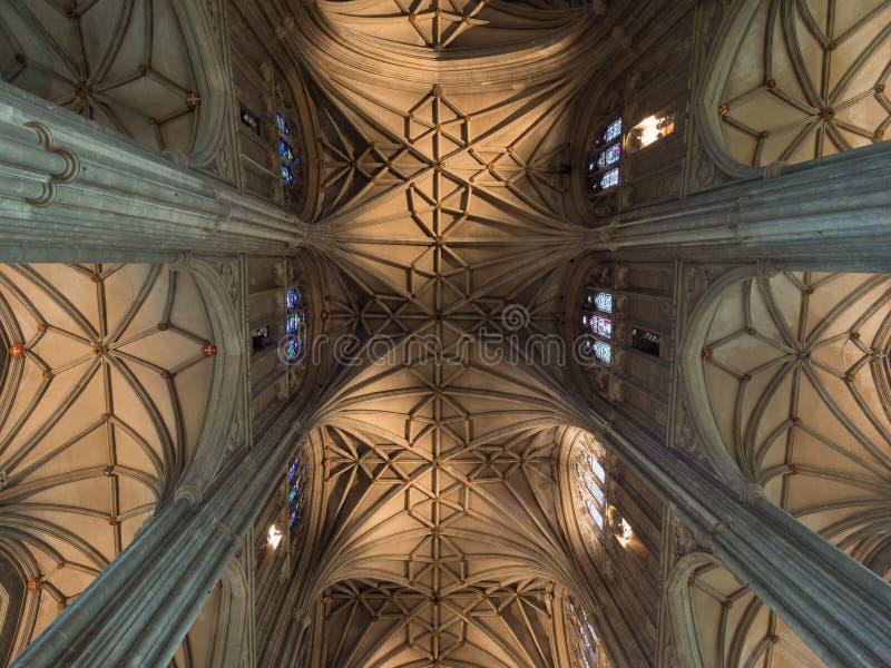 Потолок собора Кентербери стоковое изображение rf
