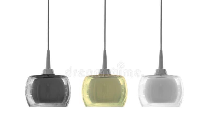 Потолочное освещение 3 цветов современное стоковые изображения rf