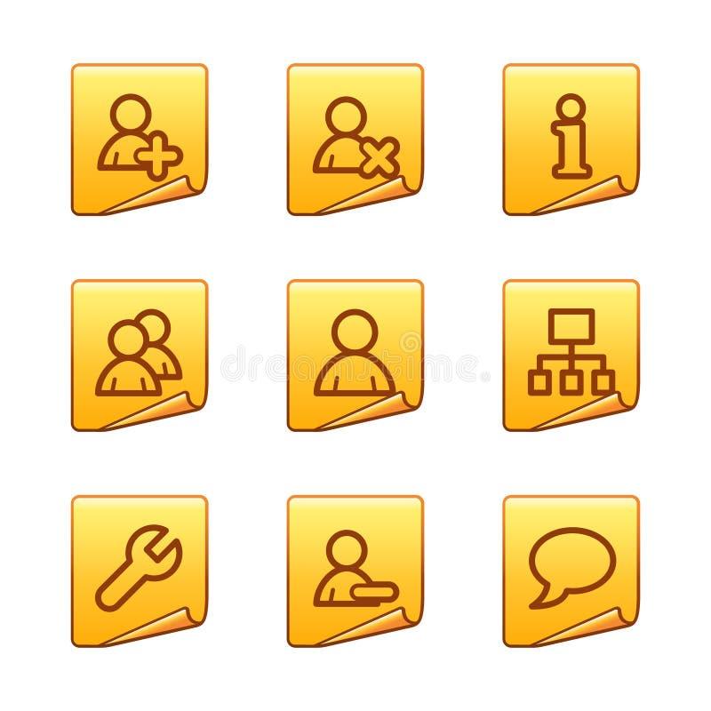 потребители икон бесплатная иллюстрация