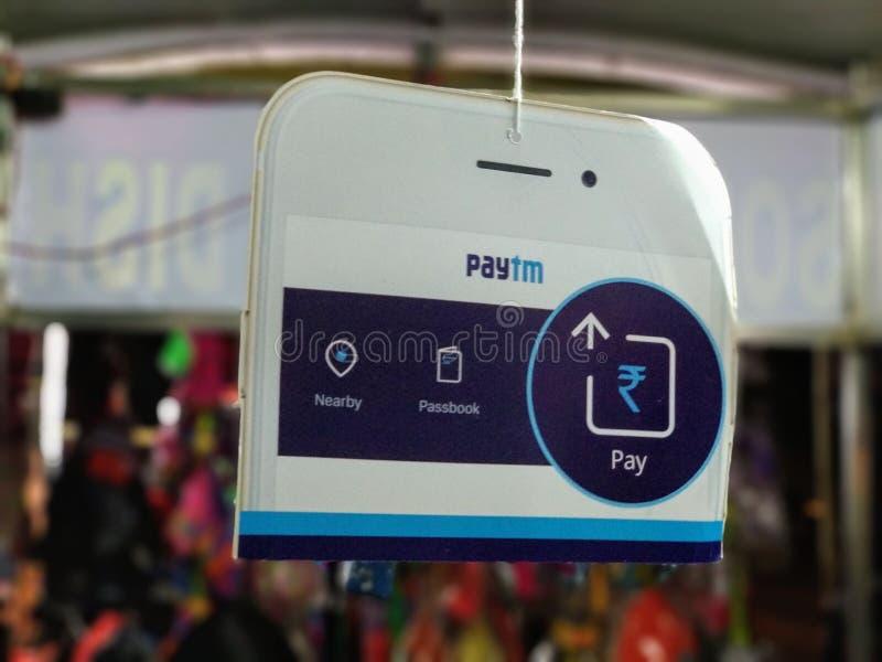 Потребители Paytm стоковые изображения