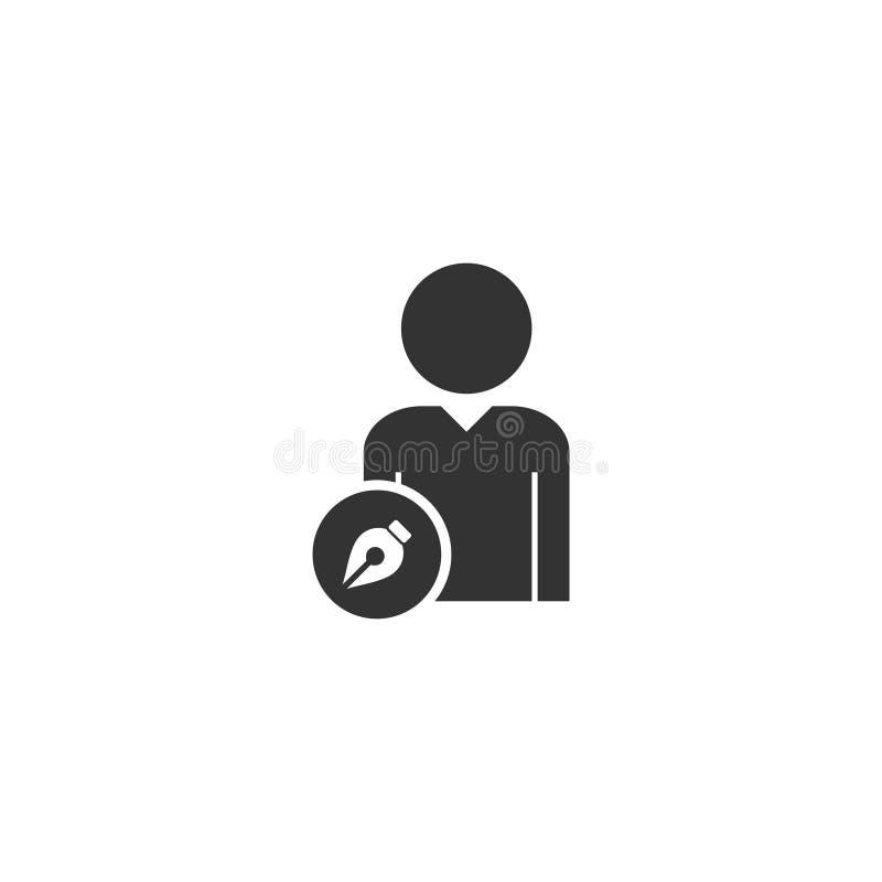 Потребитель редактирует квартиру значка иллюстрация штока