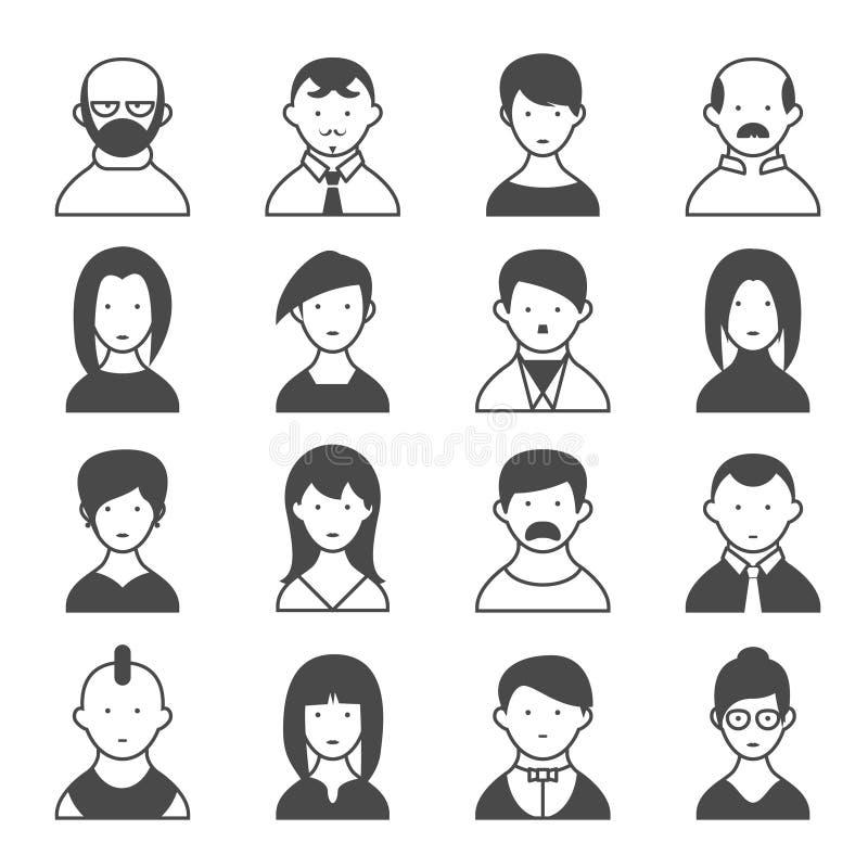 Потребители силуэта иллюстрация вектора