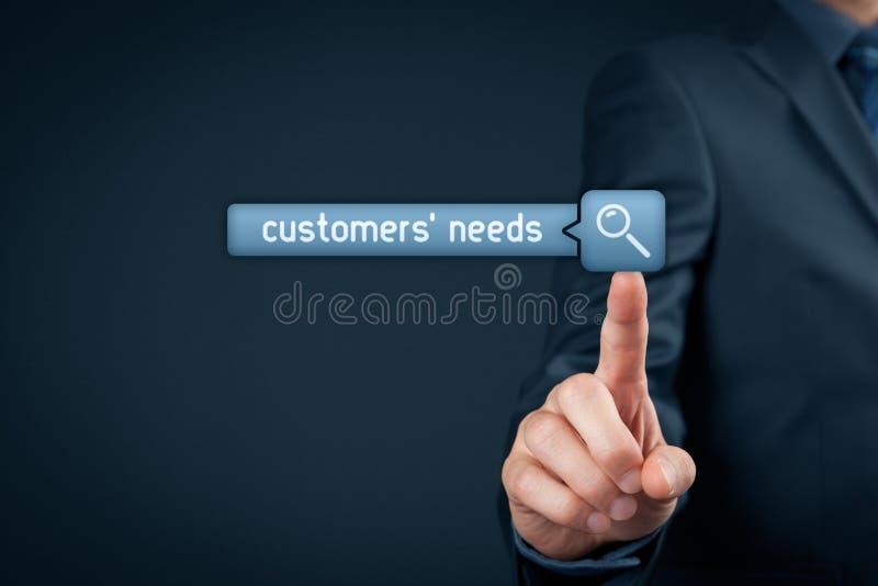 Потребности клиентов стоковые фотографии rf