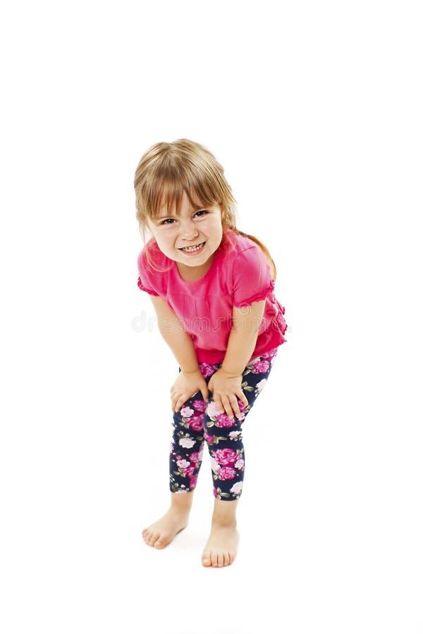 Потребность маленькой девочки моча стоковые изображения