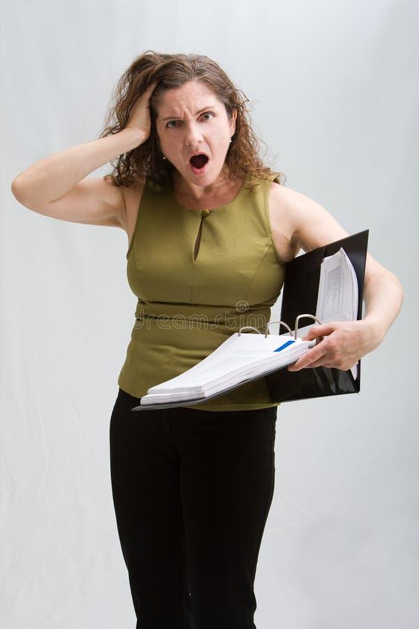 Потревоженная женщина дела стоковая фотография rf