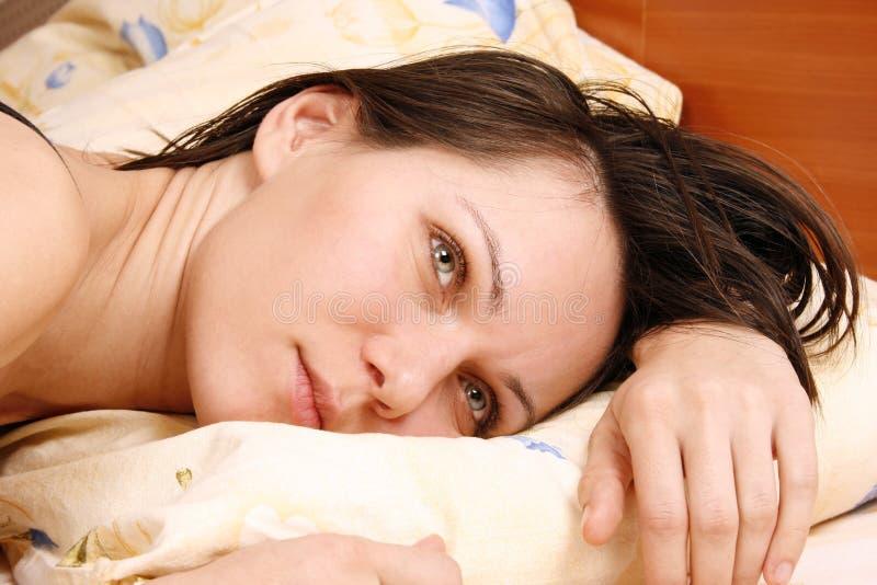потревоженная женщина стоковая фотография rf