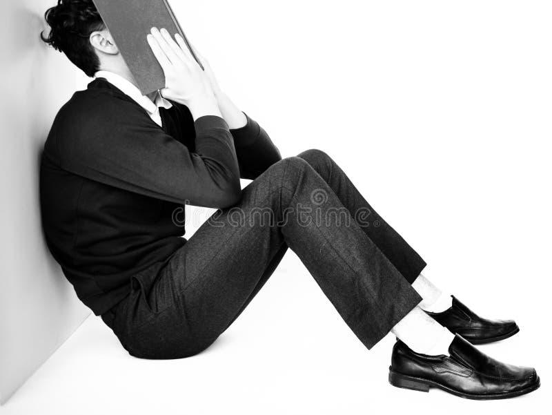 Потревоженная фрустрация тревоги стресса исследования терпеть неудачу стоковое изображение rf