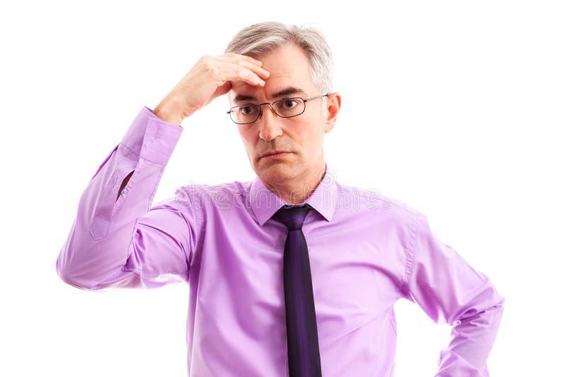 Потревоженный бизнесмен стоковое изображение rf