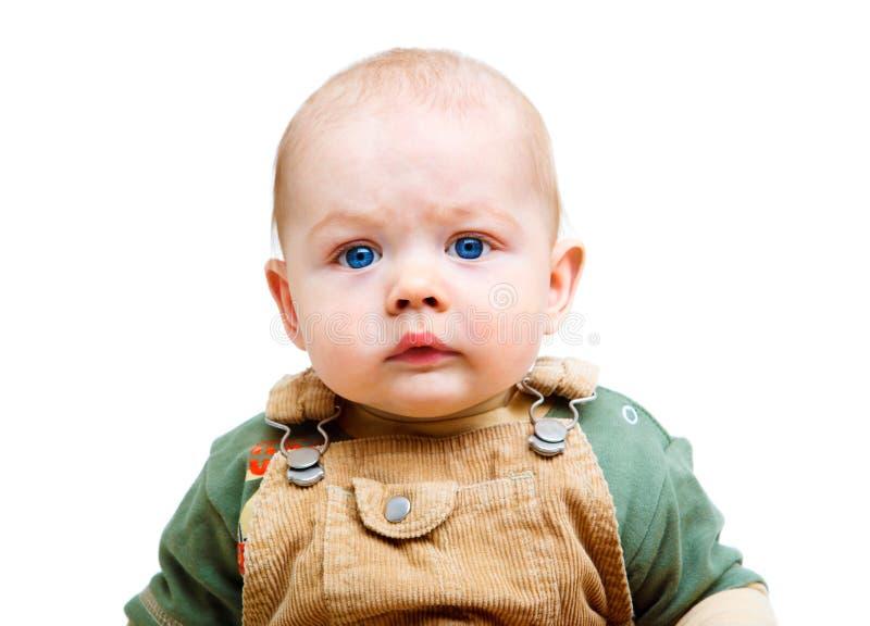 потревоженный малыш стоковое фото