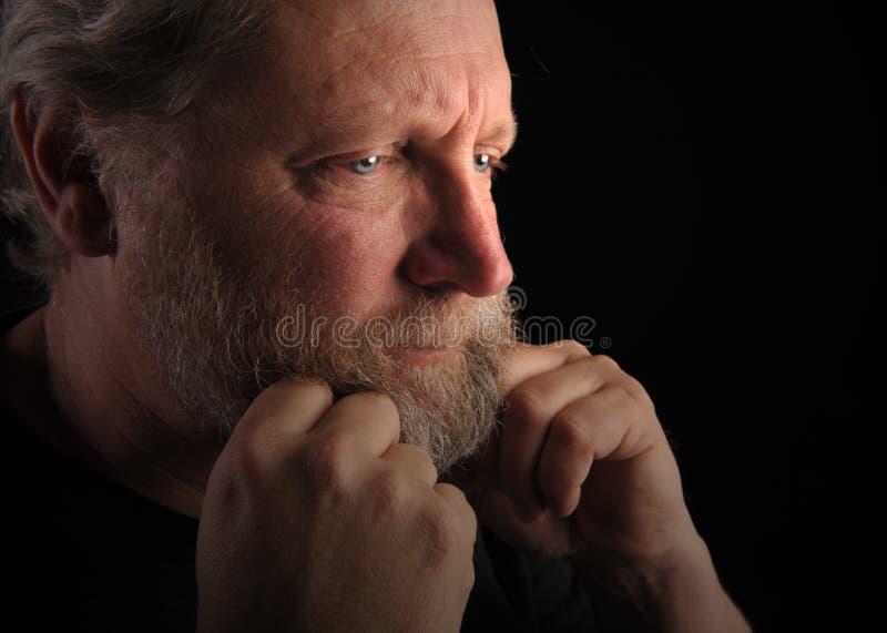 потревоженный человек стоковая фотография rf