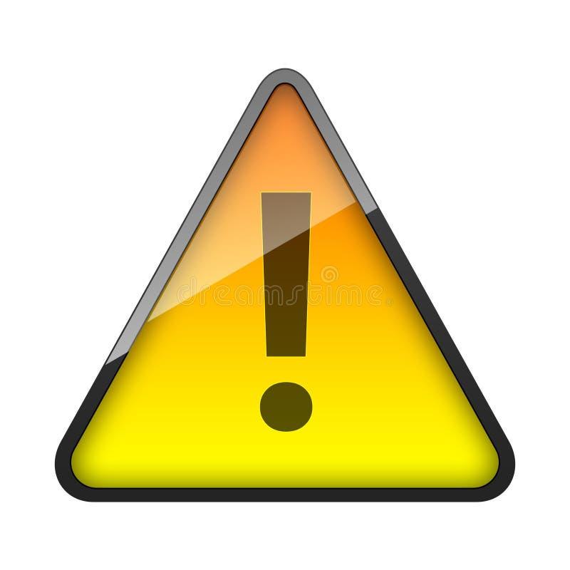: Потревожьте вирус предупредительного знака желтый светя - технология - иллюстрация штока