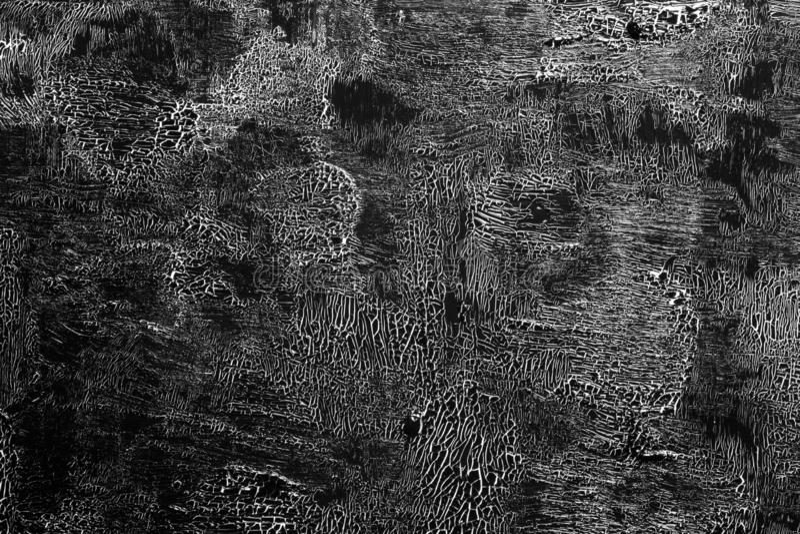 Потрескиванная краска черным по белому 01 стоковые фото