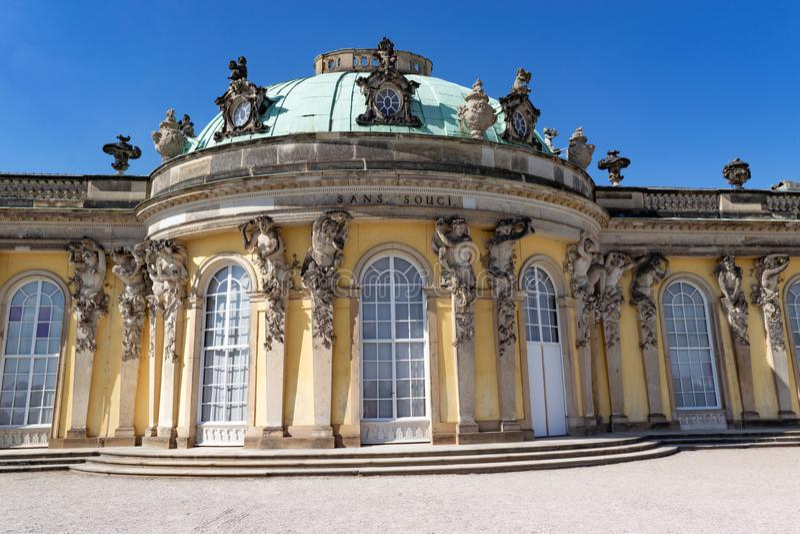 Потсдам SansSouci, Германия, летний дом Friedrich большая стоковое фото rf