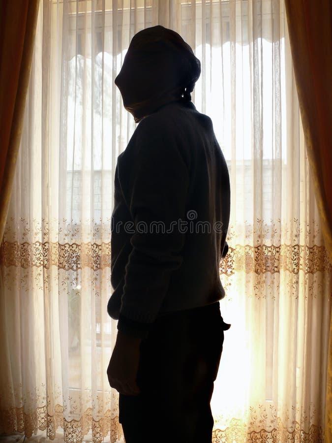 похититель силуэта стоковое изображение rf
