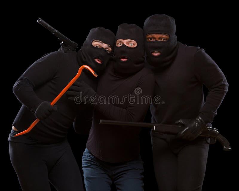 Похитители в масках стоковые фото