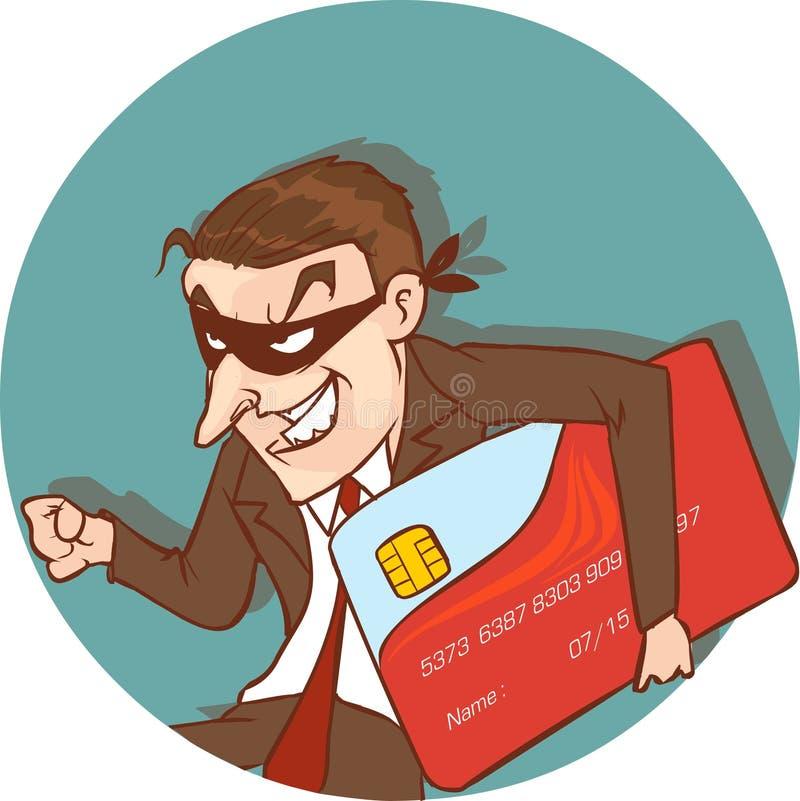 Похититель кредитной карточки иллюстрация штока