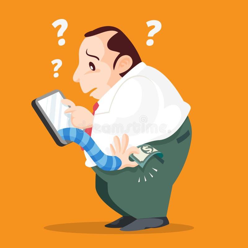 Похититель от smartphone иллюстрация штока