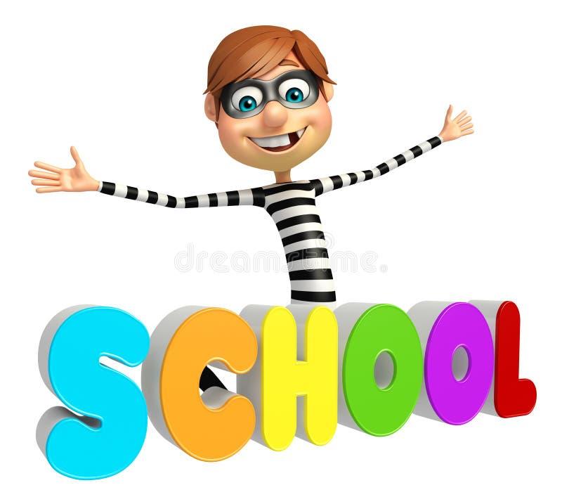 Похититель с знаком школы бесплатная иллюстрация