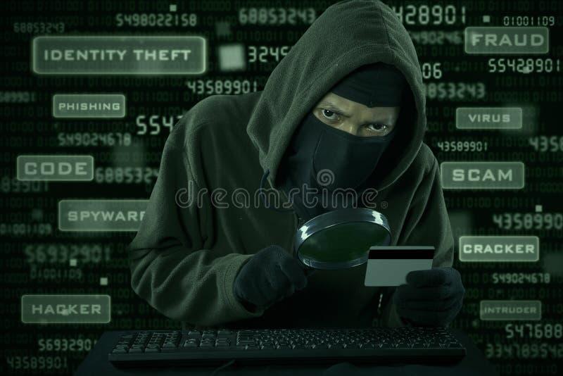 Похищение данным по кредитной карточки стоковые фото