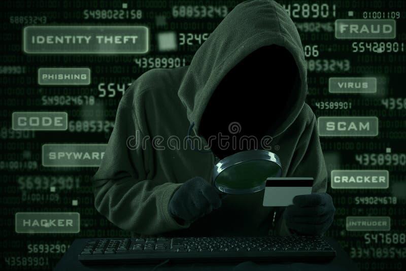 Похищение банка интернета стоковое изображение