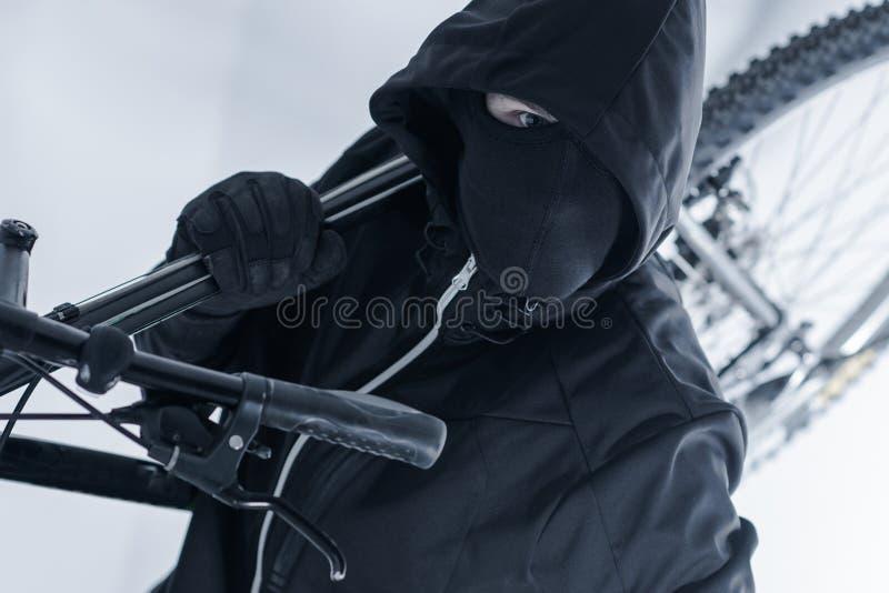 Похищение велосипеда стоковое фото rf