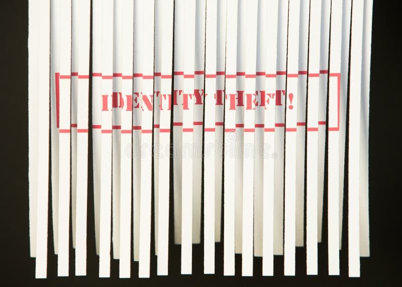 похищение документа shredded тождественностью стоковые фото