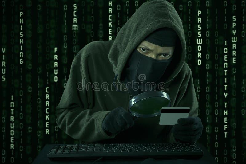 Похищение кредитной карточки стоковые фото