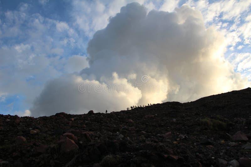 Поход Никарагуа захода солнца Telica вулкана стоковые изображения rf