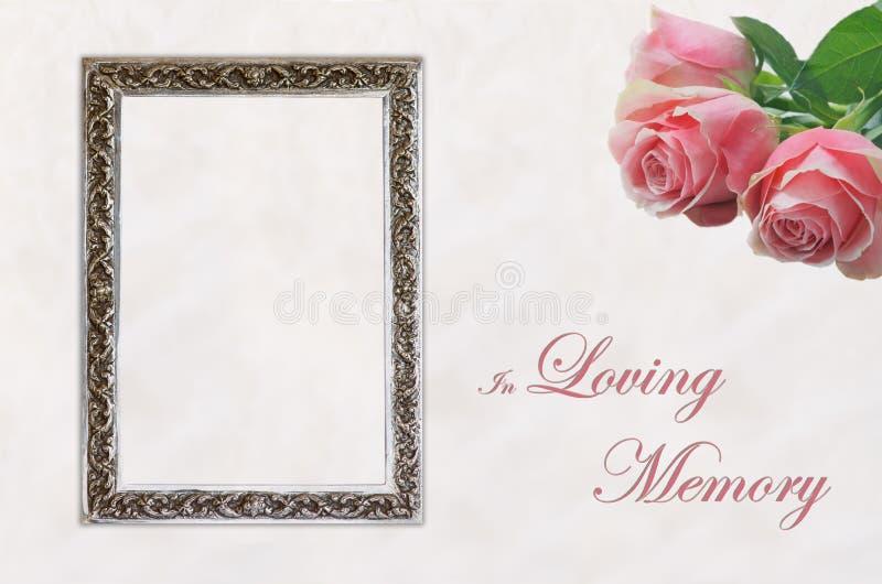 Похоронная карточка хвалебной речи стоковая фотография rf