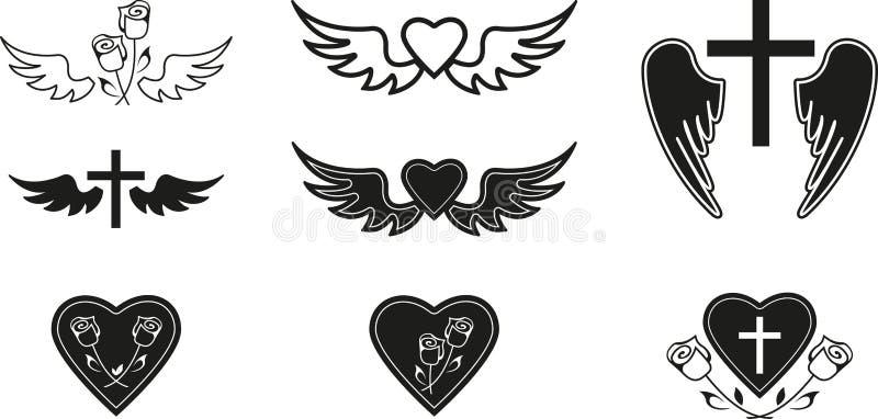 Похоронные символы иллюстрация вектора