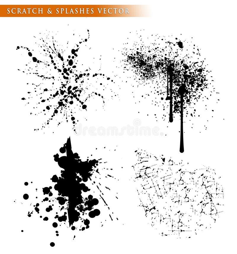 поцарапайте & брызните шаблон вектора иллюстрация вектора