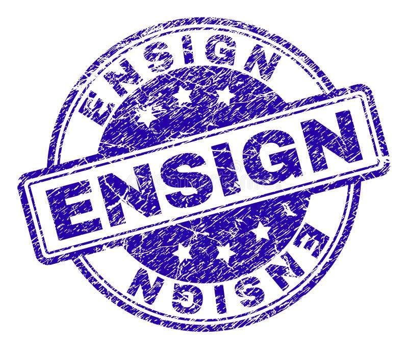 Поцарапанное текстурированное уплотнение печати ENSIGN иллюстрация штока