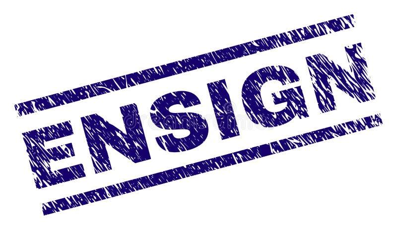 Поцарапанное текстурированное уплотнение печати ENSIGN бесплатная иллюстрация