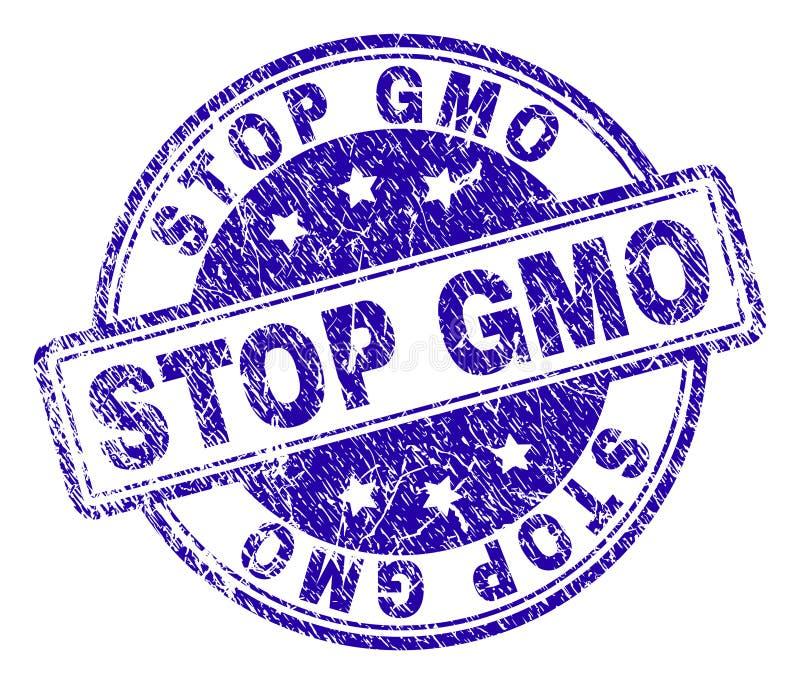 Поцарапанное текстурированное уплотнение печати GMO СТОПА бесплатная иллюстрация