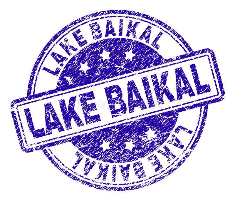 Поцарапанное текстурированное уплотнение печати LAKE BAIKAL иллюстрация штока