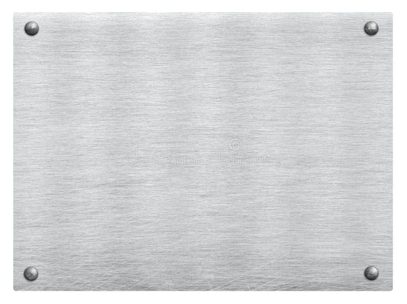 Поцарапанный серый металл, сталь, алюминиевая текстура плиты с заклепкой стоковые изображения rf
