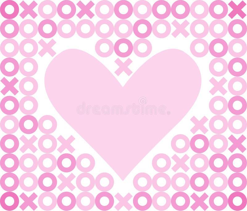 поцелуи hugs сердца eps предпосылки иллюстрация вектора