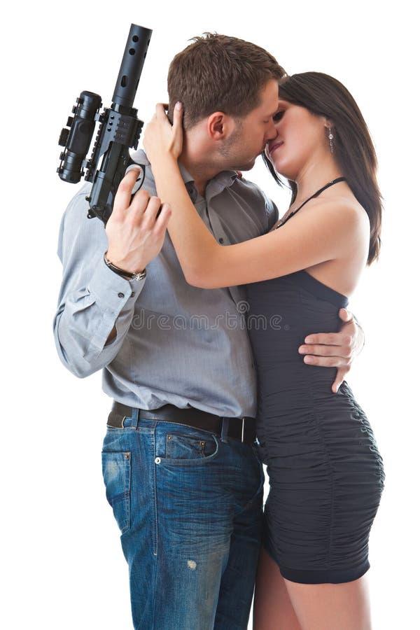 поцелуй опасности стоковые изображения rf