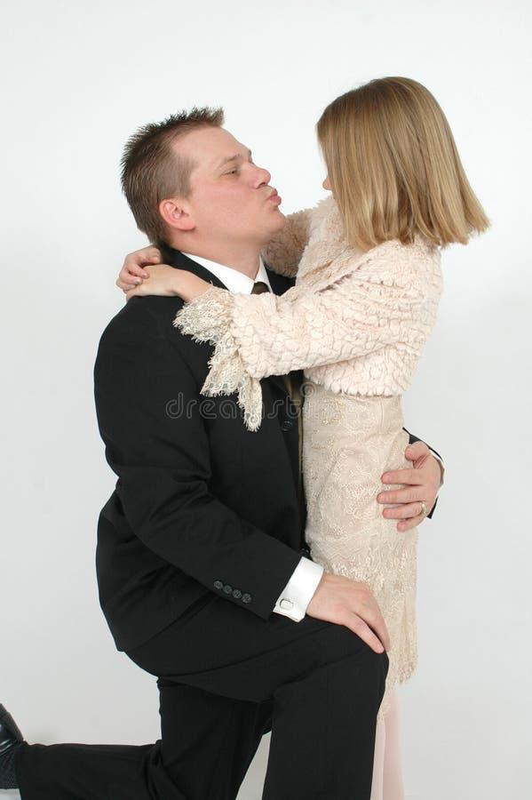 поцелуй папаа стоковые фотографии rf