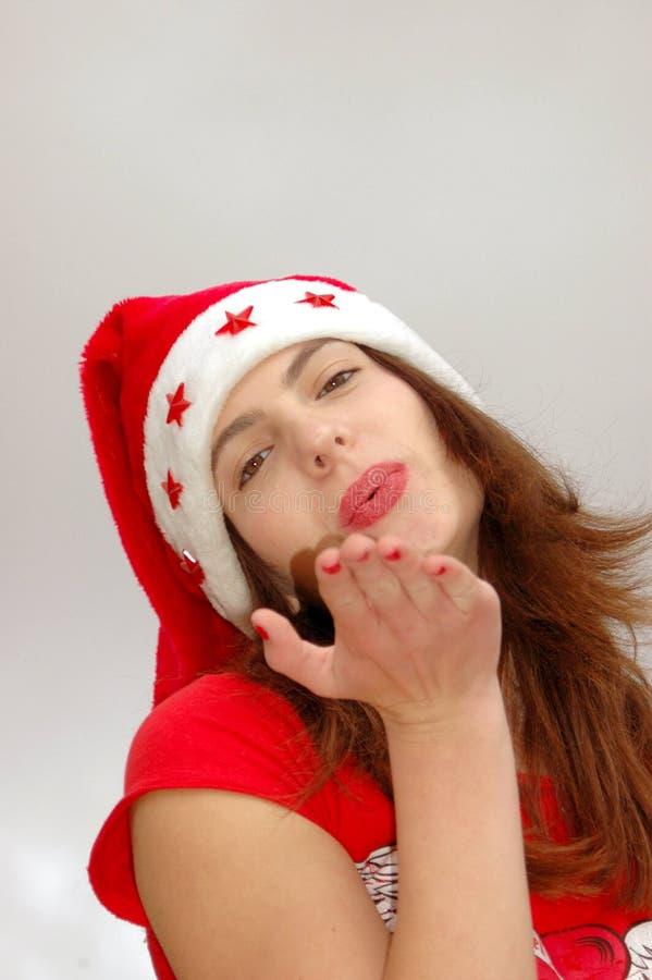 поцелуй рождества дуновения стоковое изображение