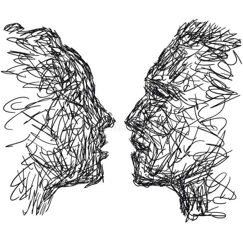 поцелуй иллюстрация вектора