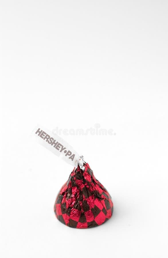 поцелуй hershey стоковые изображения rf