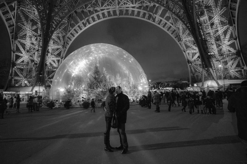 Поцелуи на рождестве стоковая фотография rf