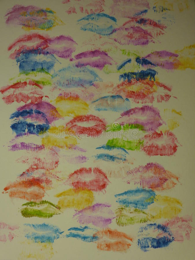 поцелуи стоковое изображение rf