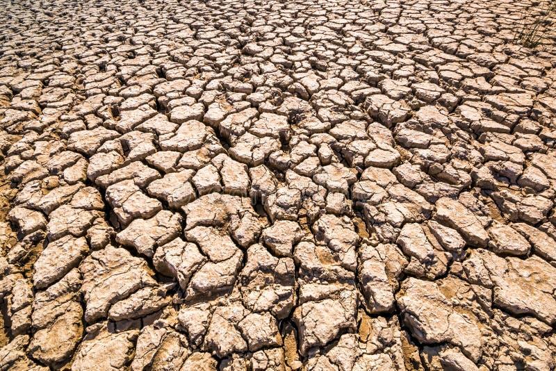 Почва глины, суглинок покрытый с глубокими отказами стоковое изображение rf