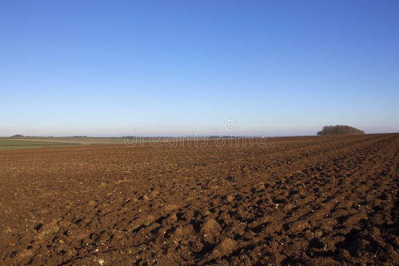 Почва плужка зимы стоковая фотография