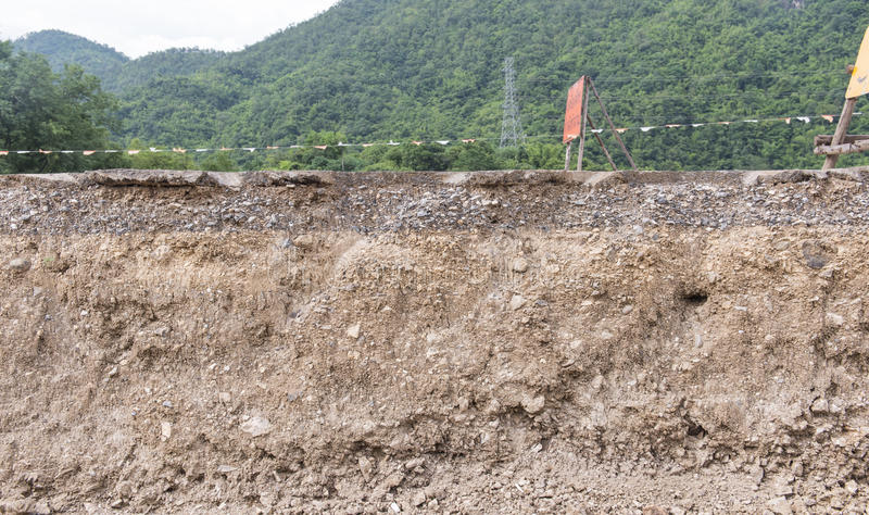 почва слоев стоковая фотография