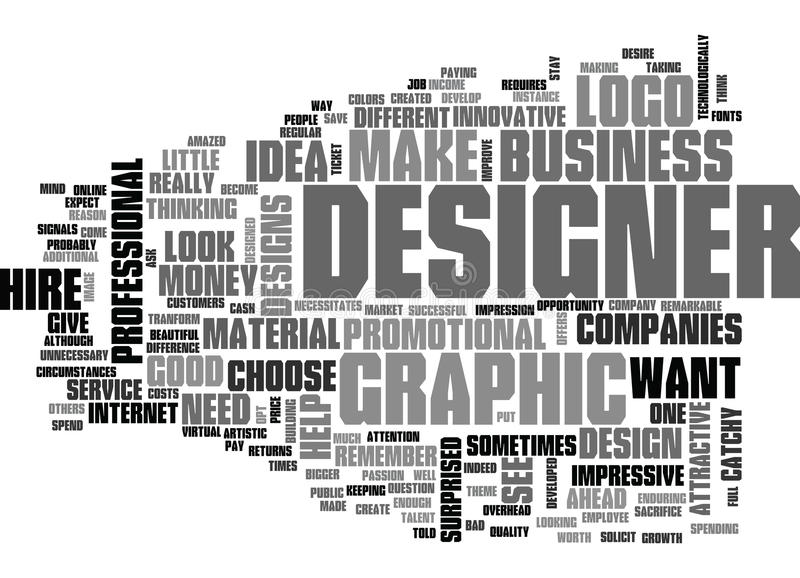 Почему наем облако слова график-дизайнера иллюстрация штока
