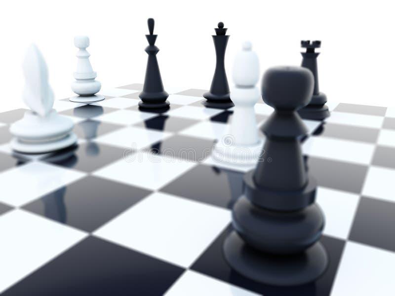почерните белизну шахмат иллюстрация штока