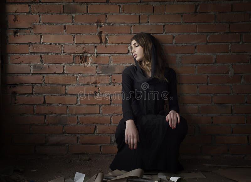 почерните девушку стоковые фотографии rf